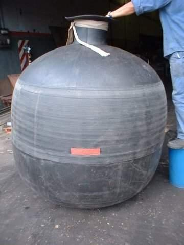 Bladders for sewers water absorbing tanks